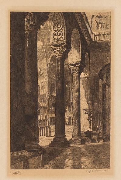 Etching「Interior Of St. Marks,」:写真・画像(15)[壁紙.com]