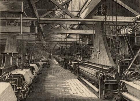SL「Interior of weaving shed at Erskine Beveridge & Comapny factory」:スマホ壁紙(2)