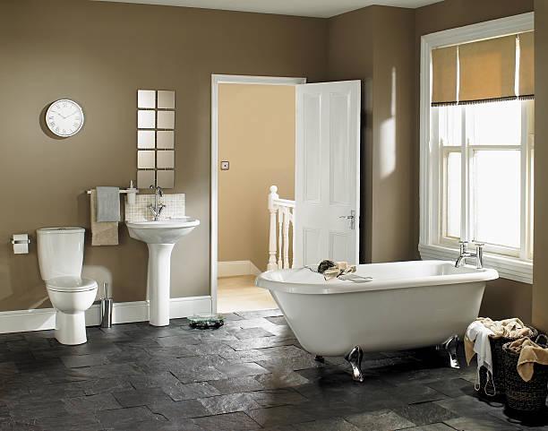 Interior of luxurious bathroom:スマホ壁紙(壁紙.com)
