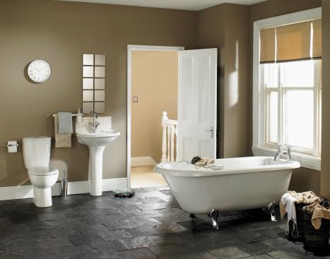 スイセン「豪華なバスルームのインテリア」:スマホ壁紙(4)