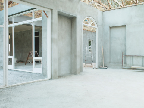 South Africa「Interior of house under construction」:スマホ壁紙(8)