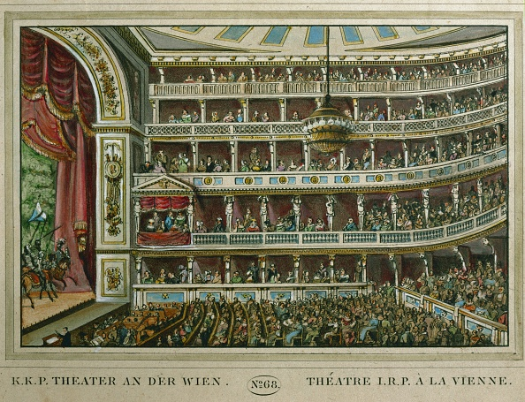 劇場「Interior of the Theater an der Wien」:写真・画像(3)[壁紙.com]