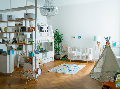 Bedroom「Interior of playroom at home」:スマホ壁紙(9)