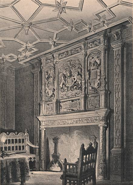 Interior of an old house at Enfield, Middlesex, known as `Queen Elizabeth's Palace`, 1915. Artist: Unknown.:ニュース(壁紙.com)