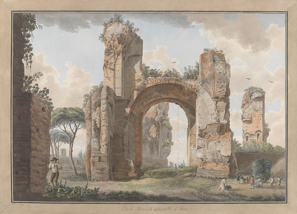 Etching「Interior Of The Baths At Caracalla」:写真・画像(13)[壁紙.com]