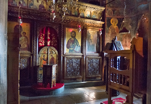 Thessaly「Interior of Roussanou Monastery church」:スマホ壁紙(9)