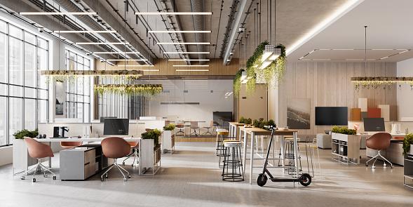 Corporate Business「Interior of an open plan office space」:スマホ壁紙(3)