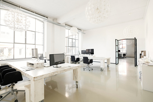 Chair「Interior of a modern agency office」:スマホ壁紙(3)