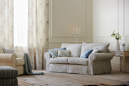 Floral Pattern「Interior of a traditional style living room」:スマホ壁紙(14)
