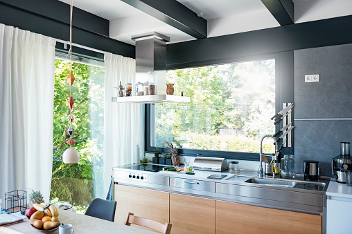 Kitchen Counter「Interior of a modern kitchen」:スマホ壁紙(7)