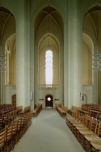 Brick Wall「Interior of Grundtvig Kirke church.  Copenhagen, Denmark.」:写真・画像(0)[壁紙.com]