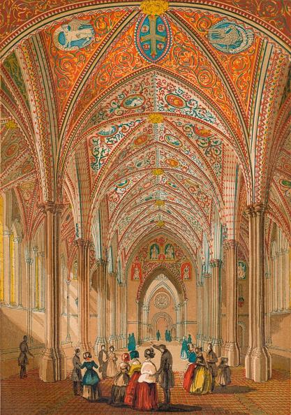 Ceiling「'Interior of the Temple Church', c1845,」:写真・画像(13)[壁紙.com]