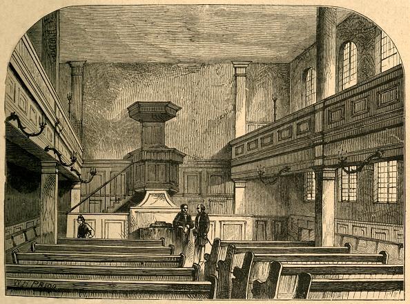 Bench「Interior Of The Moravian Chapel In Fetter Lane」:写真・画像(17)[壁紙.com]