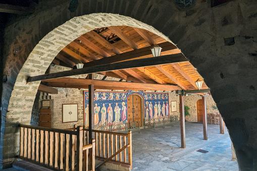 Trikkala「Interior of Grand Meteora Monastery, Kalambaka」:スマホ壁紙(5)