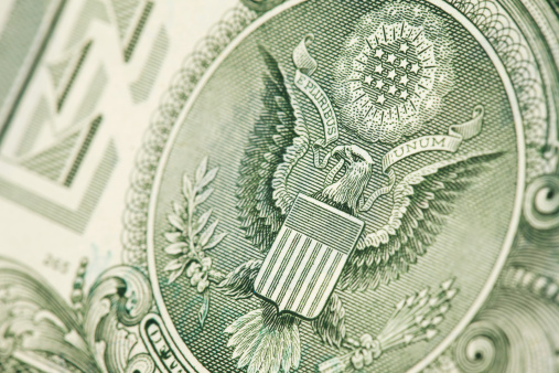 アメリカ通貨「1 ドル紙幣&素晴らしいシール」:スマホ壁紙(3)