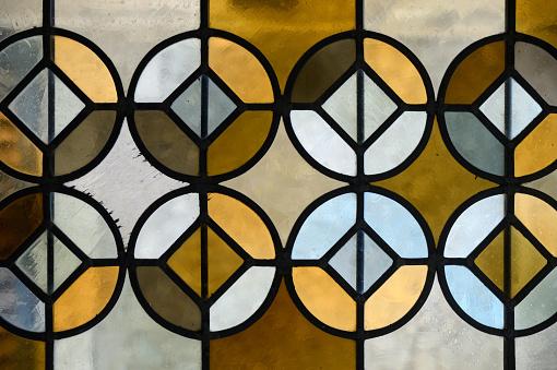 Cloister「Geometric Stained Glass Window Saint Trophime Church Arles」:スマホ壁紙(15)