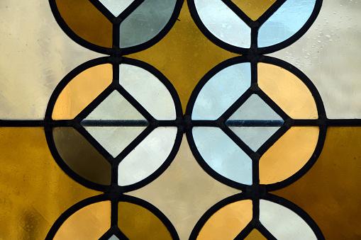 Cloister「Geometric Stained Glass Window Saint Trophime Church Arles」:スマホ壁紙(11)