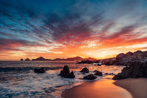 Pacific Ocean「Sunset in Cabo San Lucas」:スマホ壁紙(10)