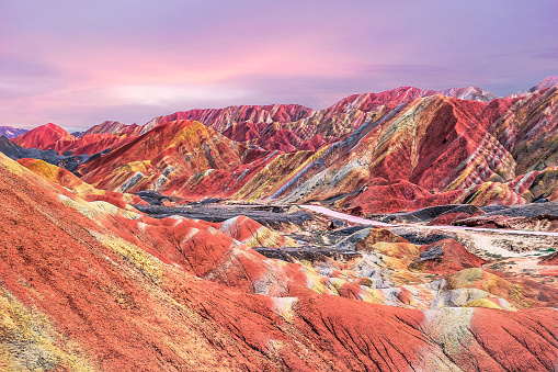 Fantasy「Sunset in China's rainbow mountain」:スマホ壁紙(9)