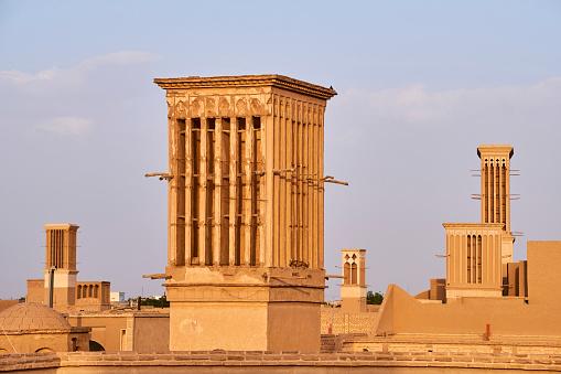 Yazd「Iran, Yazd, windtower」:スマホ壁紙(8)