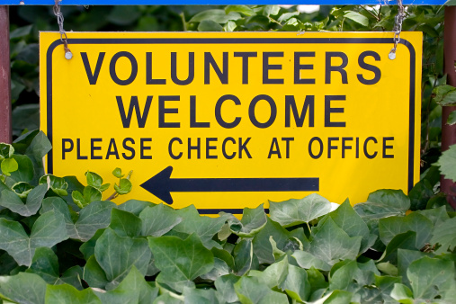 Volunteer「Volunteers Welcome Sign, Please Check at Office.」:スマホ壁紙(2)