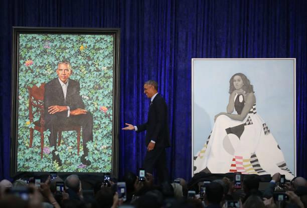 ポートレート「Barack And Michelle Obama Attend Portrait Unveiling At Nat'l Portrait Gallery」:写真・画像(4)[壁紙.com]