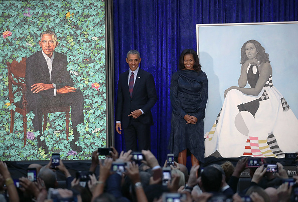 ポートレート「Barack And Michelle Obama Attend Portrait Unveiling At Nat'l Portrait Gallery」:写真・画像(8)[壁紙.com]