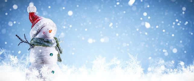 Snowdrift「Snowman and Snowing Background」:スマホ壁紙(18)