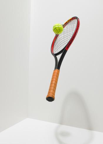 Net - Sports Equipment「Tennis ball into racket netting」:スマホ壁紙(6)