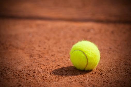 クレイコート「テニスボール」:スマホ壁紙(3)