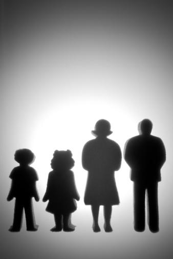 父親「Colorful Family Shaped Cut Outs」:スマホ壁紙(18)