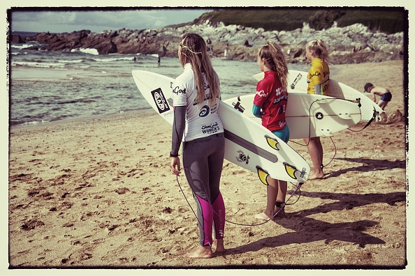 Holiday - Event「Female Surfers Compete At The Boardmasters In Newquay」:写真・画像(4)[壁紙.com]