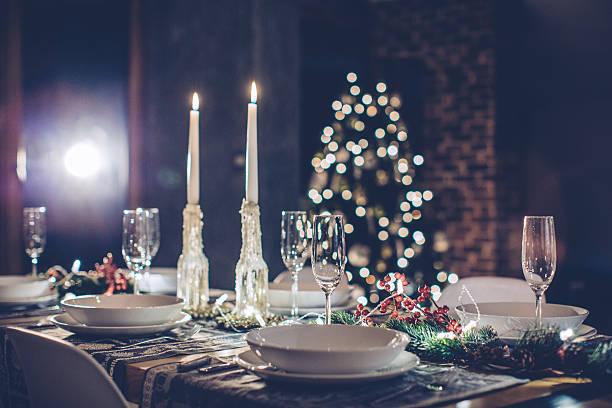 Romantic Christmas dinner:スマホ壁紙(壁紙.com)