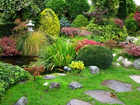Carp「Japanese garden」:スマホ壁紙(19)