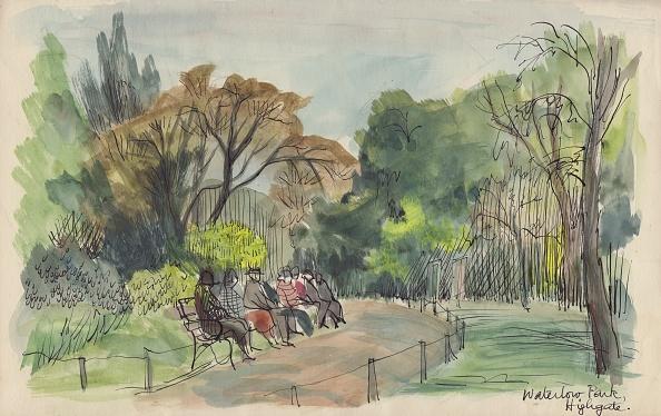Bench「Waterlow Park,」:写真・画像(12)[壁紙.com]