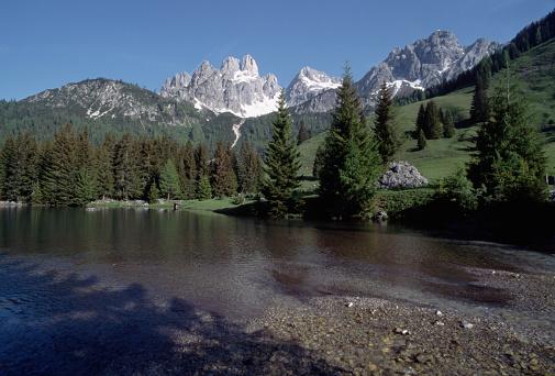 Dachstein Mountains「Dachstein Massif From Filzmoos Valley」:スマホ壁紙(15)