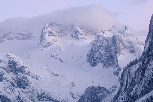 Dachstein Mountains「Dachstein mountain covered in fog, Austria」:スマホ壁紙(5)