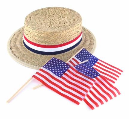 Fourth of July「Straw Election Hat and Flags」:スマホ壁紙(5)