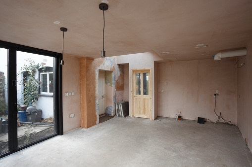 Renovation「New kitchen and diner extension interior. Built onto the side of a listed historic building.」:スマホ壁紙(15)