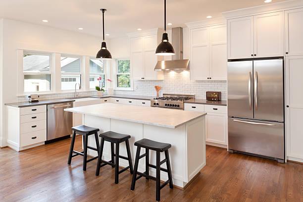 New kitchen in modern luxury home:スマホ壁紙(壁紙.com)
