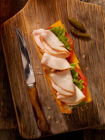 Lemon Soda「Roast Turkey and Cheese Sandwich on a baguette」:スマホ壁紙(15)