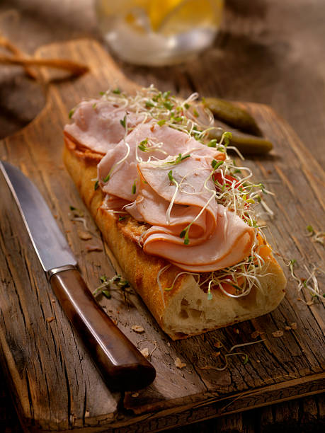 Roast Turkey and Cheese Sandwich on a baguette:スマホ壁紙(壁紙.com)