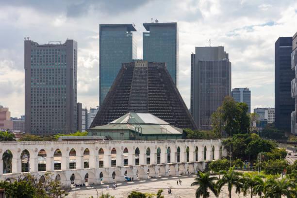 Distinctive catedral Metropolitana de São Sebastião do Rio de Janeiro opened in 1979 with Rio's downtown district in the background, Brazil:スマホ壁紙(壁紙.com)