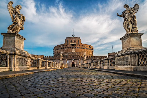 Castle「Italy, Rome, View of Castel Sant Angelo」:スマホ壁紙(17)