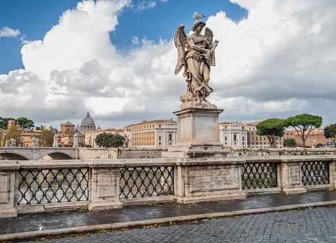 Footbridge「Italy, Rome, Ponte Sant'Angelo」:スマホ壁紙(0)