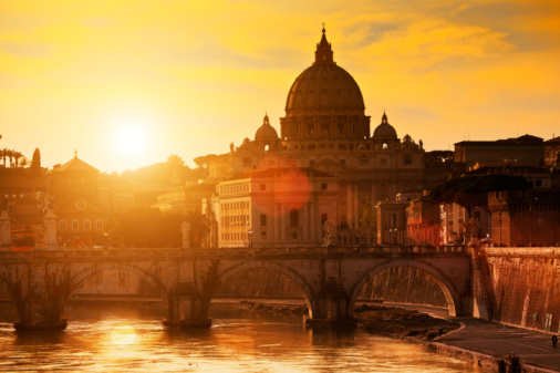 Cathedral「Italy, Rome, St Peter's Basilica」:スマホ壁紙(8)