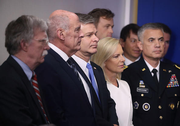 Intelligence「Top National Security Officials Join Sarah Sanders At White House Press Briefing」:写真・画像(19)[壁紙.com]