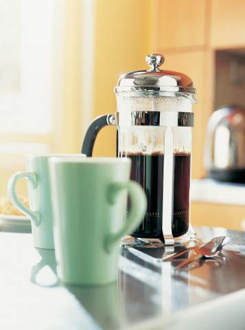 French Press「Cafetiere and Cups」:スマホ壁紙(2)