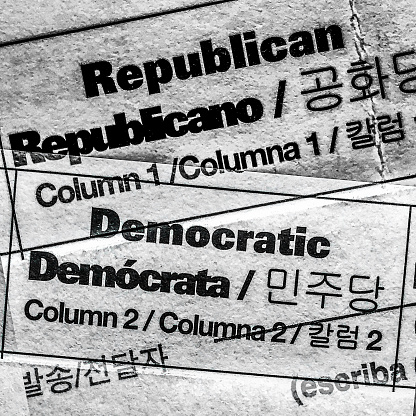 Voting Ballot「Political party options on  the United States mail in ballot」:スマホ壁紙(1)