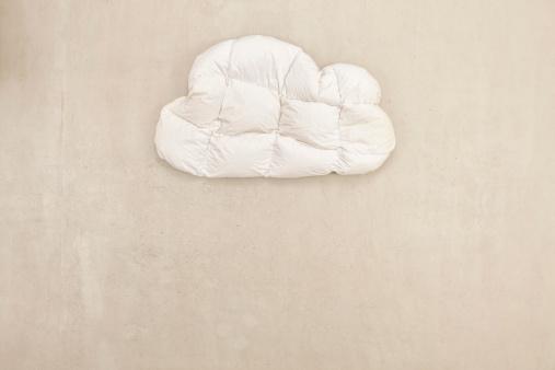 Imagination「Cloud shape pillow on beige background」:スマホ壁紙(9)